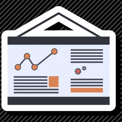 bar, blackboard, infographic, list, menu, tab icon