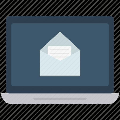 computer, device, laptop, laptop computer, mail send icon