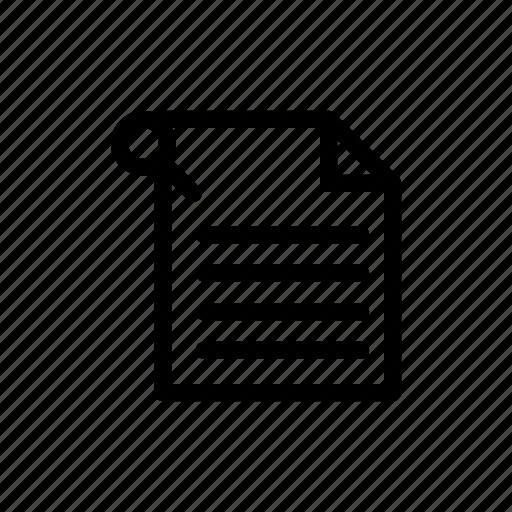 document, paper, pin icon icon