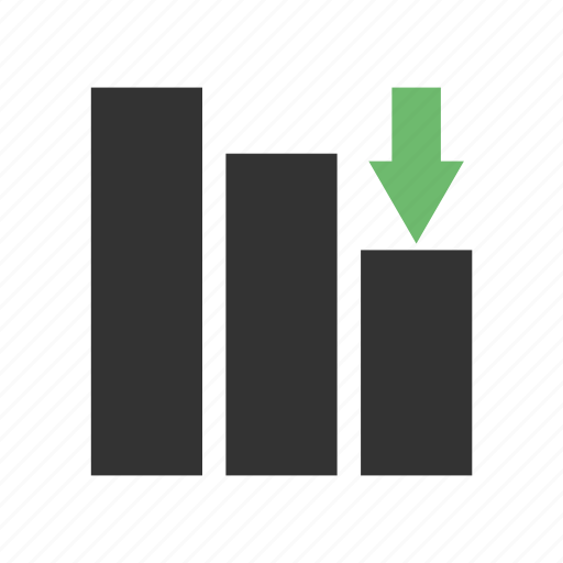 arrow, chart, graph, revenue growth icon