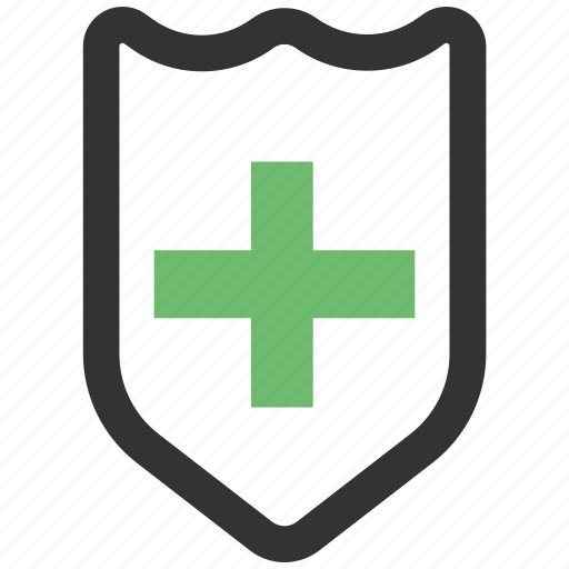 doctor, hospital, medical, on, protection, security, shield icon