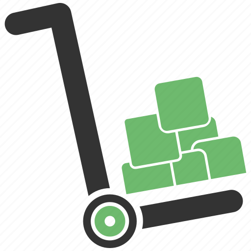 cart, delivery, hand, trolley icon
