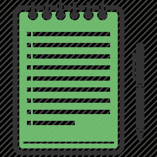 compose, notepad, pen, write icon