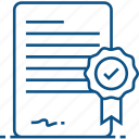 certificate, certification, degree, insurance, warranty icon icon
