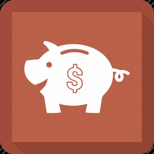 bank, money, piggy, saving icon