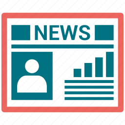 news, newspaper, press releases icon