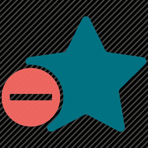assessment, minus, premium, rating, star icon