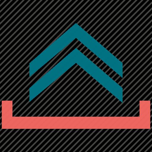 arrow, triangle, up icon