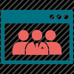 company, group, tab, team, users, webpage icon