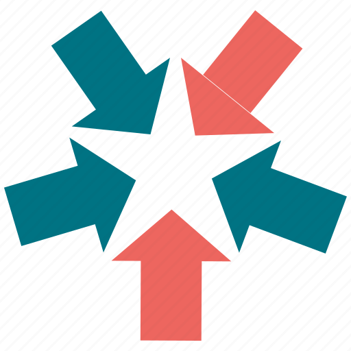 arrow, down, left, navigation, pointer, right, up icon