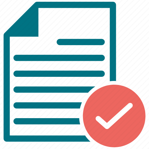 check, document, file, text icon