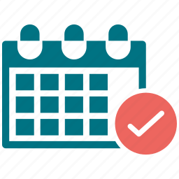 appointments, calendar, check, date, events icon