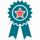 award, award badge, award ribbon, badge, star icon