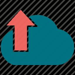 arrow, cloud, cloudy, up icon
