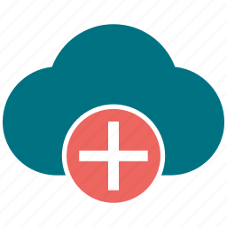 cloud, cloudy, pluse icon