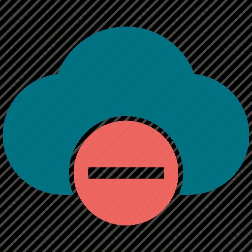 cloud, cloudy, minus icon