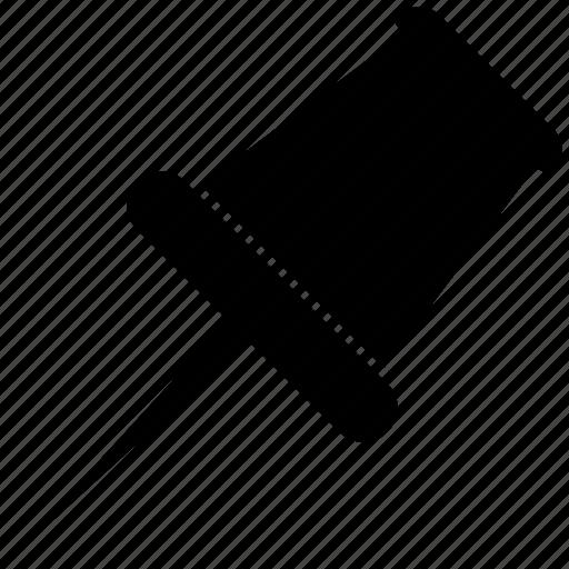 pin, pinned, pushpin icon