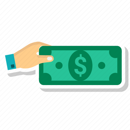 dollar, hand, money, pay money icon