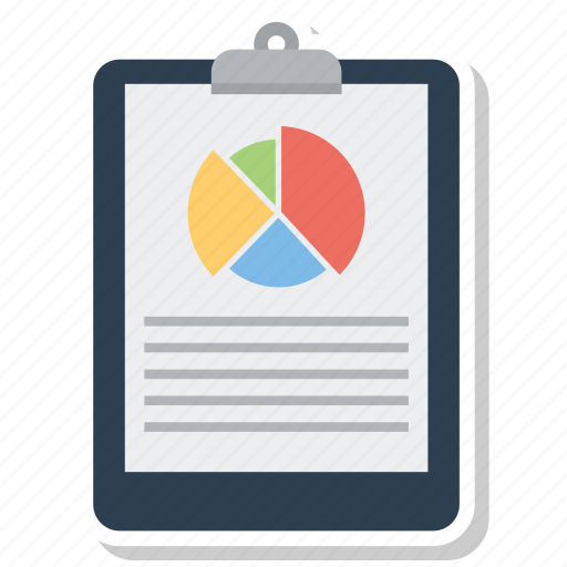 document, draft, list, note, notepad, paper, pie chart icon