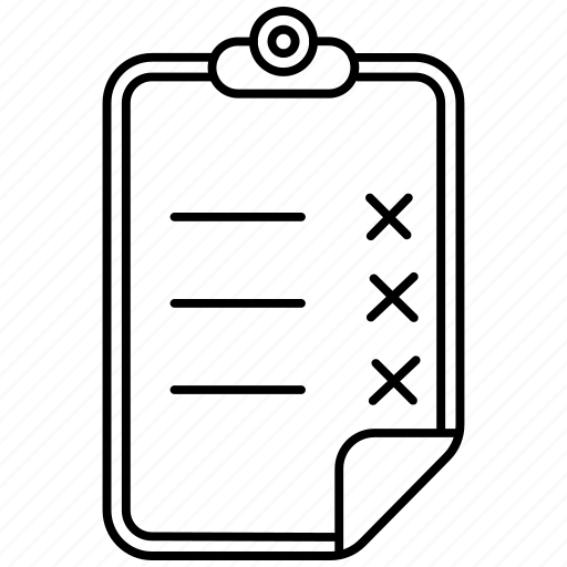 clipboard, file, notepad icon