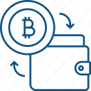 bitcoin, bitcoin exchange, cryptocurrency, digital, finance, money, trade, wallet icon icon
