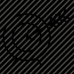 aim, arrow, direction, goal, target icon