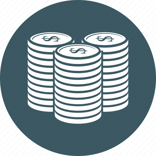 coin, coins, dollar, payment icon