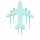 above, flight, over, plane icon