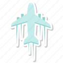 above, flight, over, plane icon