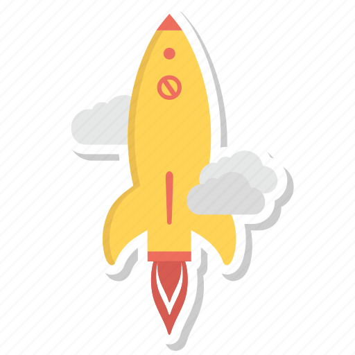 fly, mission, promotion, rocket, space icon