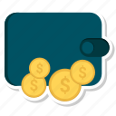 dollar, money, shopping, wallet icon