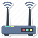 internet, network, router, signal, wifi icon
