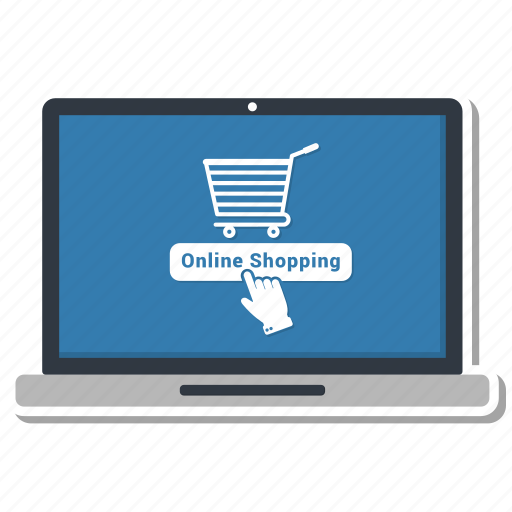 loptop, online, payment, shopping icon