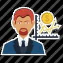 appraisal, dollar, employee, increament, increase, performance, salar icon