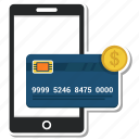 atm, card, coin, credit, debit, mobile, phone icon