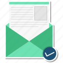 email, envelope, inbox, increment, letter, message icon