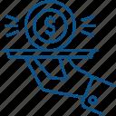 money, profit, restaurant, serve, service icon icon