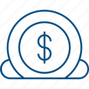coin, commerce, dollar, insert, payment icon icon