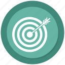 achievement, archery, productivity, skill, success, target icon