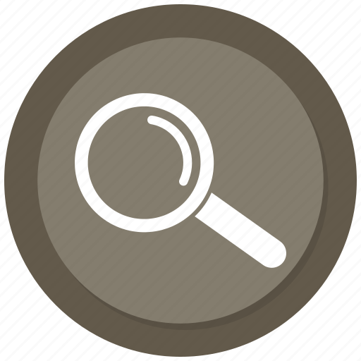 glass, magnify, search, zoom icon