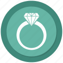 diamond, female, ring, woman icon