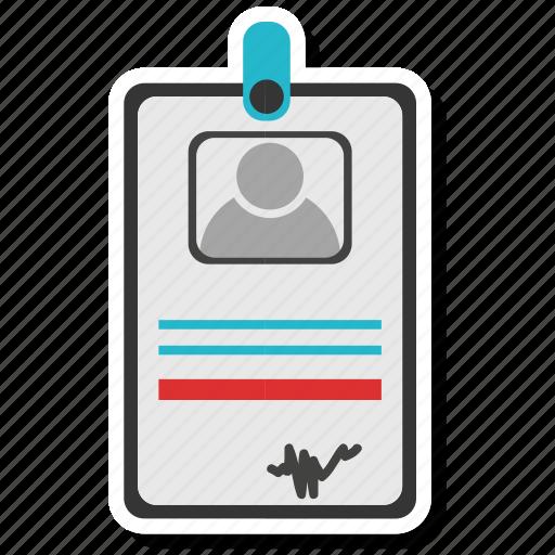 id, identity card, identity document icon