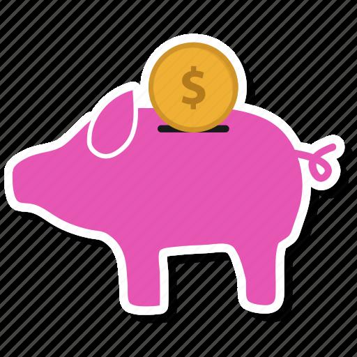 bank, piggy, piggy bank, piggybank, savings icon