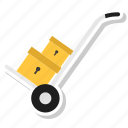 packet, parcel, shopping, trolley icon