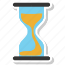 glass hour, sand watch, timer, watch icon