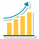 bar, graph, growth, growth bar icon