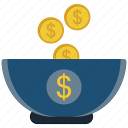 coin, cup, dollar, money band icon