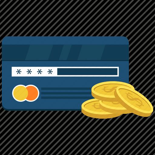 atm card, bank card, credit card, dollar, plastic money icon
