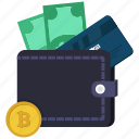 atm card, coin, dollar, money, wallet icon