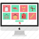 monitor, offer, online pay, online sale, online shopping icon